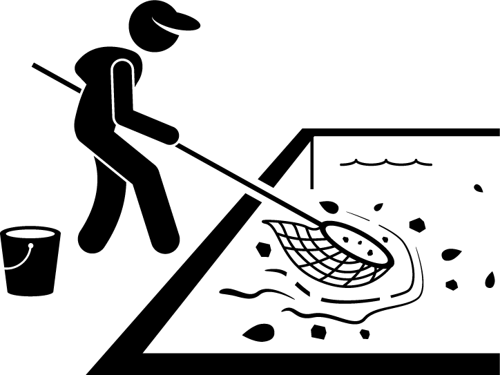 TurfnSurfLLC lawn and pool service skimming and debris removal