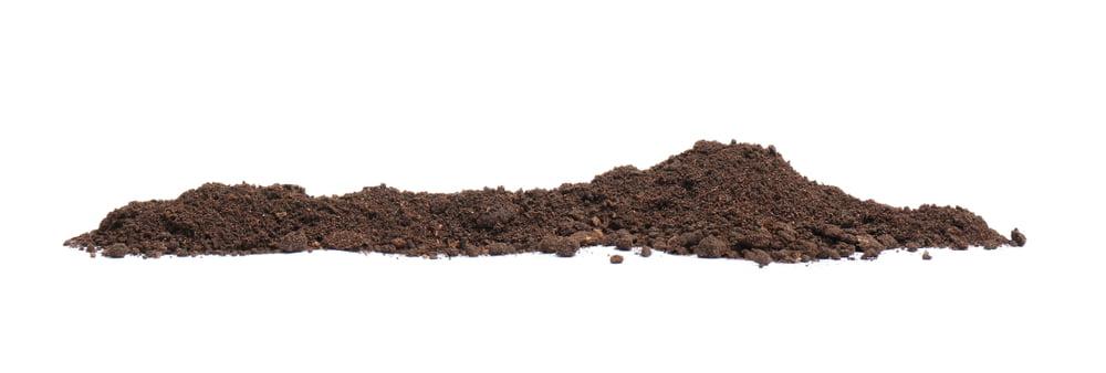 long pile of soil