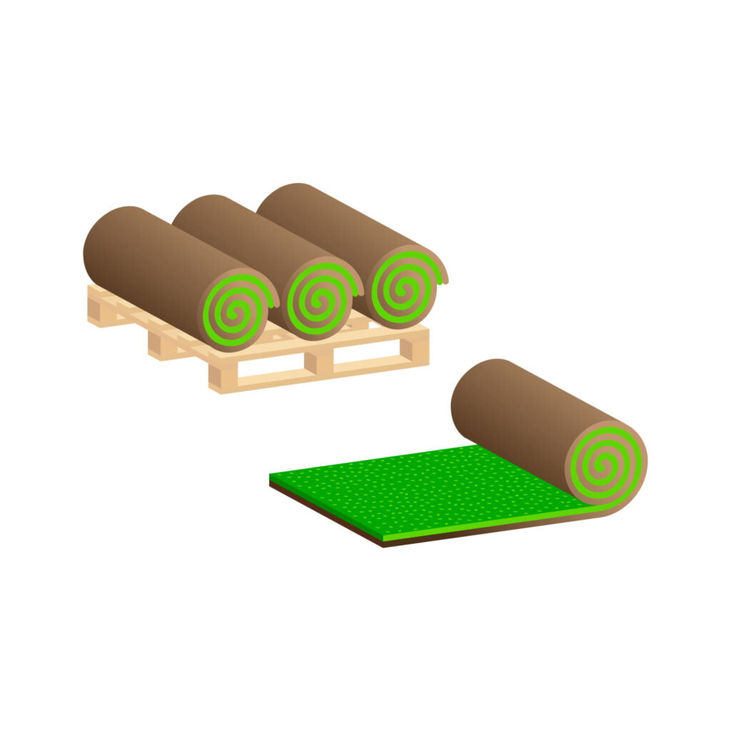 new sod rolls